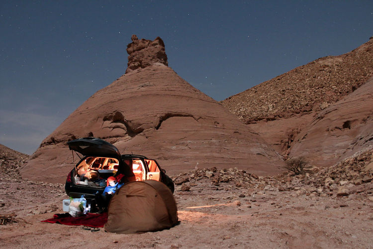 Camping night out Camping EyeEm Nature Lover EyeEmBestPics EyeEmNewHere Night Photography Rock Formation Saudi Arabia Arid Climate Desert Eyemphotography Formation Landscape Nature Rocky Mountains