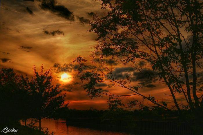 Sunset Sunsetporn Sonnenuntergang HDR Sunsethunter Skyporn Skyhunter Burning Sky Riverside Nature