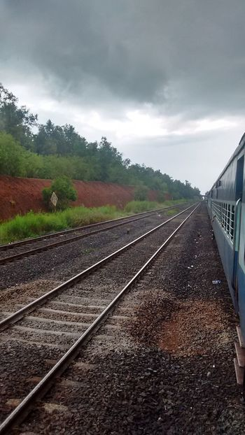 Vacations Nature Greenery💛 Cloud - Sky Travel Destinations Outingwithfriends Day Cloud Outdoors Railroad Track Railroad Love Rainy Days Indian Railways Indianphotographer The Way Forward Rail Transportation No People Sky