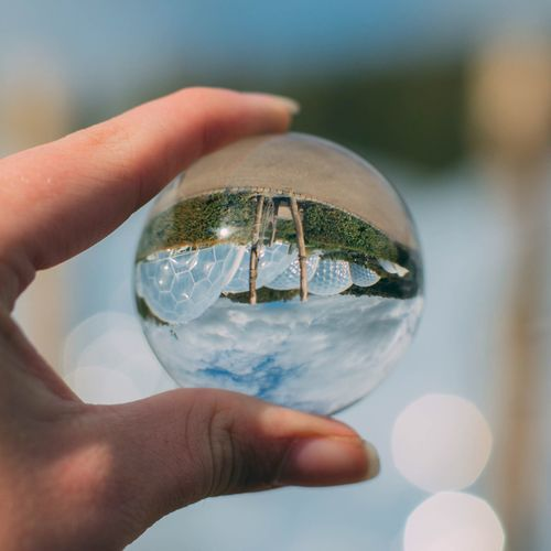 Human Hand Holding Human Body Part Real People Focus On Foreground One Person Close-up Crystal Crystal Ball Leisure Activity Day Outdoors Globe Eden Cornwall Uk Cornwall Edenproject Outdoor Photography Outdoor