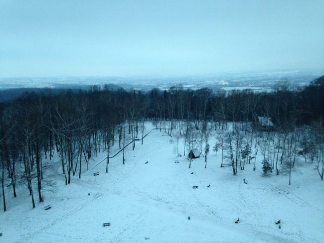 on the top of the Mount :) Blue Sky Cold Temperature Forest Nature Panoramic View Tranquility Tree Winter
