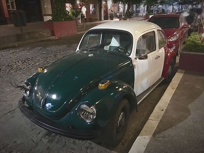 Beetle car Car Land Vehicle Transportation Old-fashioned Mode Of Transport Outdoors No People Collector's Car Day Mexico Mexican Flag VW Beetle Vw Bug Car Decor Car Eyelashes Fun
