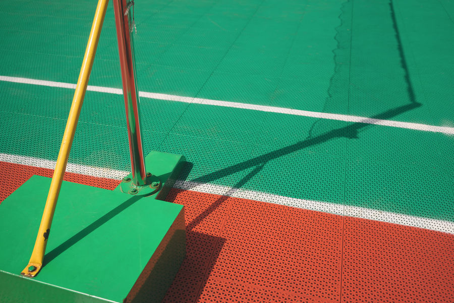 Ball Close-up Day Green Color High Angle View Net - Sports Equipment No People Playing Field Red Shadow Sport Sports Equipment Sunlight Tennis