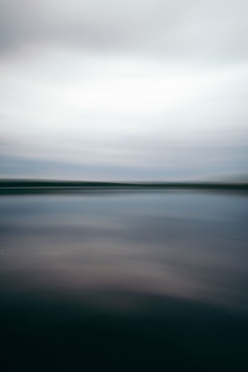 Abstract Art Beauty In Nature Blurred Motion Dark Darkness And Light Day Lake Nature No People Outdoors Scenics Sea Sky Tranquil Scene Tranquility Water