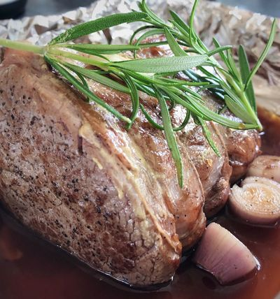 Seasoned, seared & oven ready... Food And Drink Meat Sunday Roast Shallots Fresh Rosemary Oven Ready Foodblogger Food Photography Home Cooking