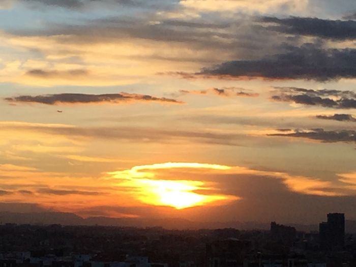 Sunset Sunset #sun #clouds #skylovers #sky #nature #beautifulinnature #naturalbeauty #photography #landscape Colombia Amazing Bogotá