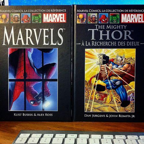 Arrivage de la semaine dernière : collection Marvel de chez Hachette : Marvels et The Mighty Thor  , à la recherche des dieux