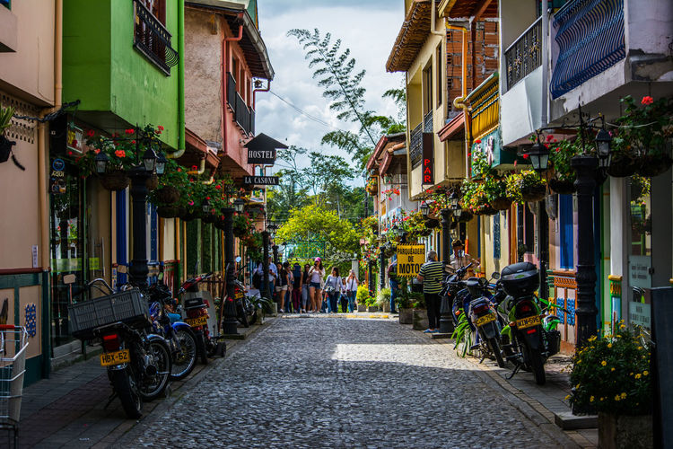 Colored Street Photography Color Nature Street Photography Small Town Street Sunny Day Town Turism