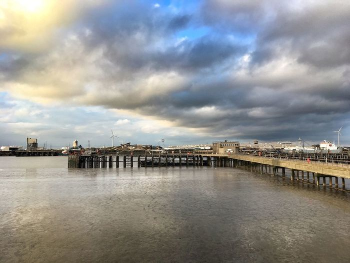 Touch the Sky ... an old Pier one of many on the River Thames on a fabulous Sunset cycle ride yesterday. Sky And Clouds EyeEm Best Shots LONDON❤ EyeEm Selects