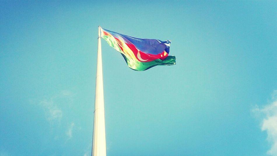 ADR Flag Azerbaijan Sky