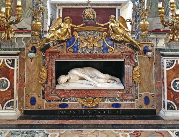 Church Roma Rome Saint Petersburg Italy Maderno Martyr Religion Santa Cecilia Sculpture Trastevere