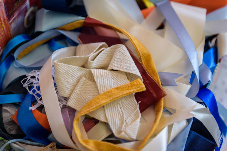 Erve Erve Miozzo Photo Miozzo Variation Abundance Ribbon - Sewing Item Wellbeing Ready-to-eat Raw Food Paper Freshness Ribbon Large Group Of Objects High Angle View No People Food And Drink Still Life Table Indoors  Close-up Food Choice Focus On Foreground Snack