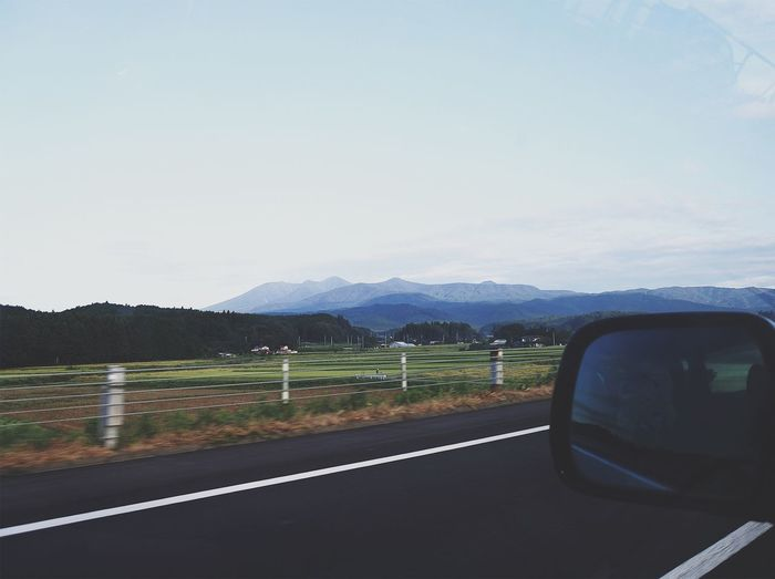 Mountain Transportation Road Car Side-view Mirror Mountain Range Landscape Mode Of Transport Scenics Land Vehicle Day Nature Sky No People Beauty In Nature Outdoors Japan Vscocam Nikon Nikonphotography VSCO
