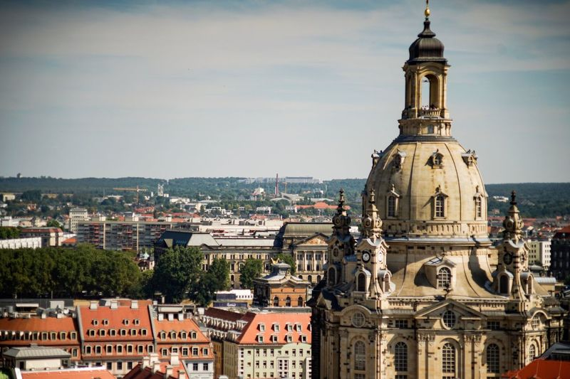 Dresden / Germany EyeEm Selects Building Exterior Architecture Built Structure Building City Sky Religion No People Travel Cityscape Tourism Outdoors Tower