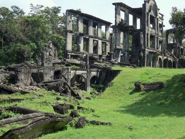 Earth reclaims the remnants of barricades from WW II. Corregidor Island, Philippines. Old Ruin History Abandoned Damaged The Past Ancient Tree Green Color Ruined Bad Condition Grass Outdoors Built Structure Obsolete Architecture Building Exterior Archaeology Architecture EyEmNewHere EyeEmNewHere