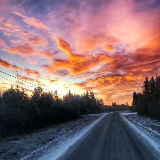 Winter Morning Work Sweden Traveling Truckerslife Nature_collection Sunrise_sunsets_aroundworld Eye Em Nature Lover Pictureoftheday On The Road North Trucking Office Landscape_Collection Clouds And Sky Morning Light