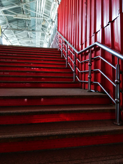 Red Spiral Staircase Steps And Staircases Steps Staircase Railing Architecture The Still Life Photographer - 2018 EyeEm Awards The Traveler - 2018 EyeEm Awards The Street Photographer - 2018 EyeEm Awards
