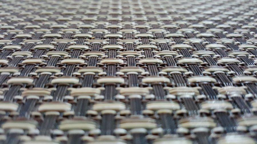 Full frame shot of woven mat