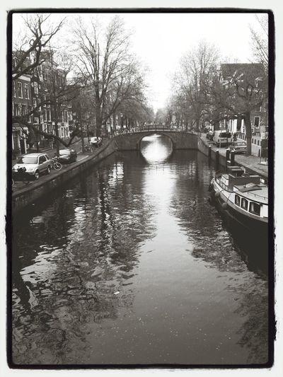 Amsterdam View Architecture Blackandwhite