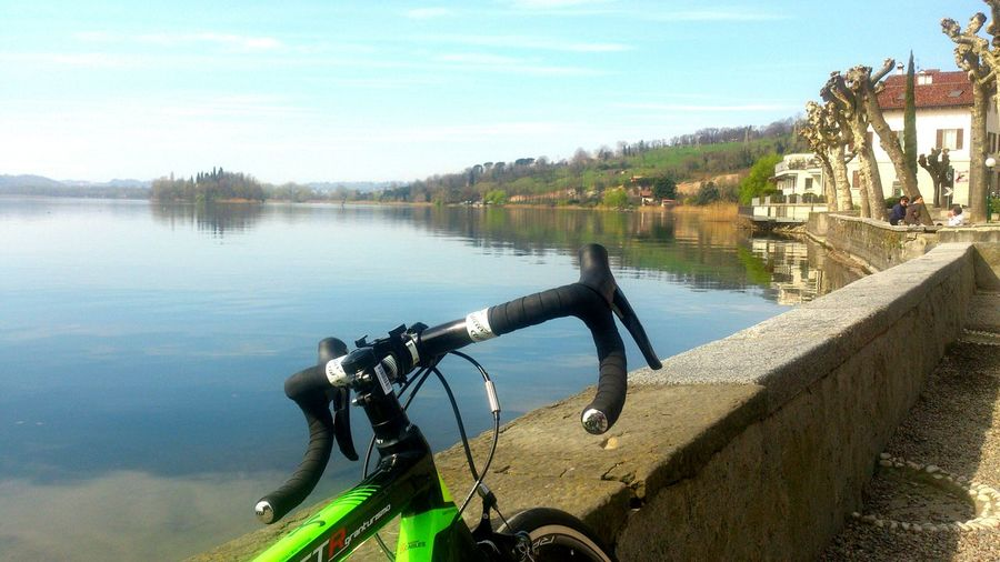 Escape with my Bicycle Lake Landscape Outdoor Pictures Mountain Springtime Spring Bicycleride Free Time