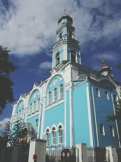 The Church..of the blue:) Traveling Hello World Yekaterinburg . Colors