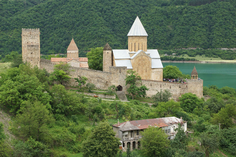 Fortress Ananuri, Georgian Military Road, Georgia, Europe Ananuri Ancient Architecture Building Exterior Castle Church Citadel Day Europe Fort Fortress Fortress Ananuri Georgia Georgian Military Road Outdoors Place Of Worship Religion Sights Sightseing Tourism Tourist Attraction  Travel Travel Destinations