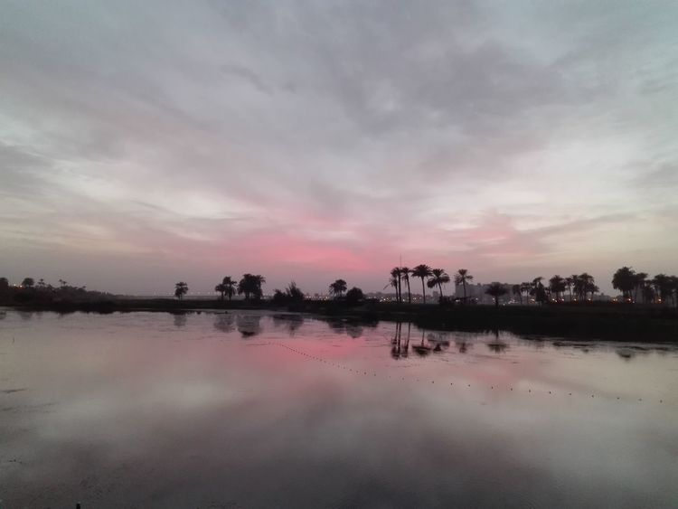 Sunset on the nile. Nofilter Nile River Nile Nileview RedSky RedClouds  Sunset First Eyeem Photo