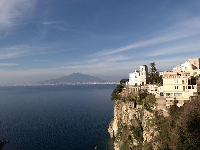 Bay Of Naples, Italy. Day Landscape No People Outdoors Sea Sky Vesuvius  Volcano