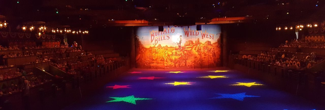 Here is a Photo shot of the arena which is for Disneyland's Buffalo Bill Wild West Show that is located inside the Disney Village within Disneyland Resort Paris. 2017 2017 Year Buffalo Bill Celebration Disney Village Disneyland Paris Disneyland Paris 💚🎆🗼 Disneyland Resort Paris Disneyland Resort Paris 2017 Disneyland Resort Paris 25th Anniversary Disneylandparis Entertainment Eurodisney Eurodisneyland Holiday - Event Illuminated Indoors  Night No People Paris, France  Performances Reastaurant Restaurant Tradition Wild West