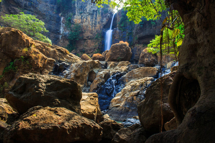 cikanteh waterfall beautiful rocks and trees Nature Landscape Nature Photography Earth Natural Light Landscape Photography Sunlight Backgrounds Natural Frame Tree Water Waterfall Rock - Object Flowing Water Rock Formation Rocky Mountains Physical Geography Cliff Natural Landmark Geology Rock Natural Arch Canyon