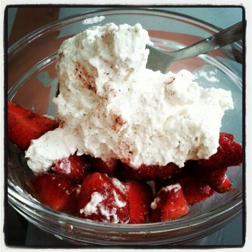 Erdbeeren mit