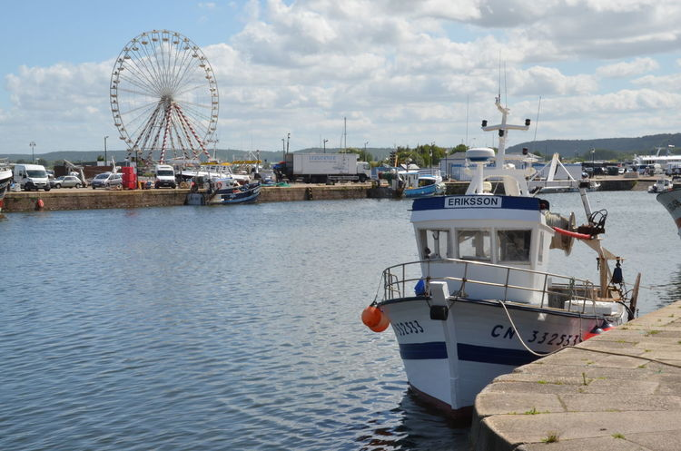 Boat Grande Roue Harbor Honfleur Mode Of Transport Nautical Vessel No People Outdoors Waterfront Tranquility Nature Water Day Beauty In Nature