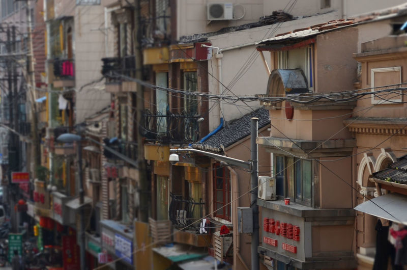Rear view window Adventures In The City Building Exterior China City Life Overpopulation Residential District Selective Focus Slum Urban Window