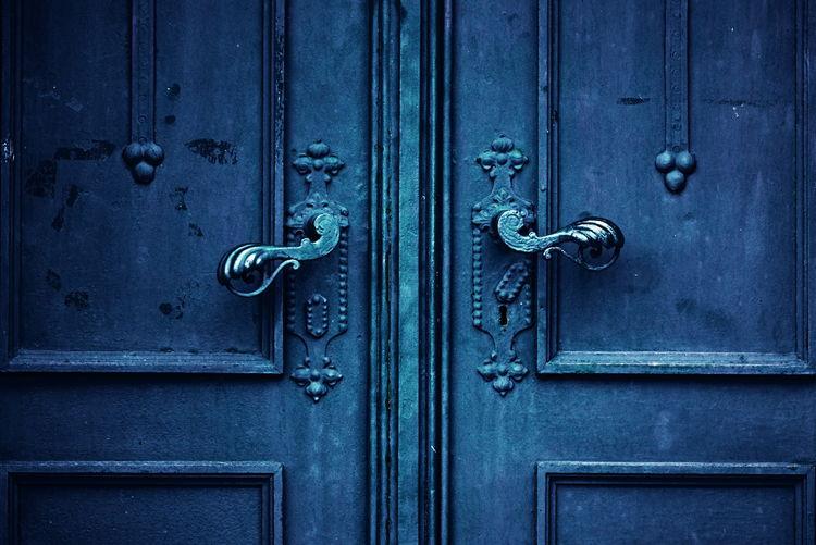 Close-up of closed doors