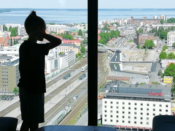 Young Adult One Young Woman Only One Woman Only Cityscape Adult Only Women Indoors  People Child Day Looking Through Window Architecture Real People One Person Skyscraper Window Sky City Tampereen Kauppahalli Tampereparaspaikka Modern Finland100years Travel Destinations Finland♥ Finland_photolovers