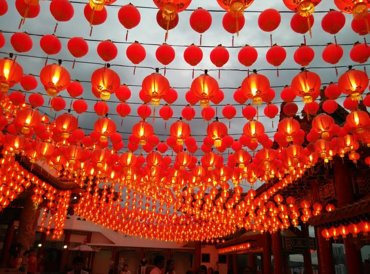 A sea of red lantern at Thean Hou temple in Malaysia Lunar New Year Religion Chinese New Year Decor Pattern Design