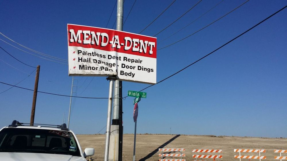 Business Sign Damaged Dented Fix  Funny Humorous IRONIC!! Repair