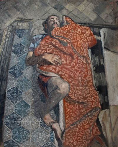 Art, Drawing, Creativity Oil On Canvas Art Exhibition Paint Farsam Sangini Art Sleep Sleeping Oil Painting