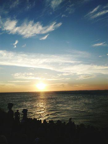 Bahia. Bahia/brazil Faroldabarra Sea Sunset Horizon Over Water Water Sky Scenics Tranquility