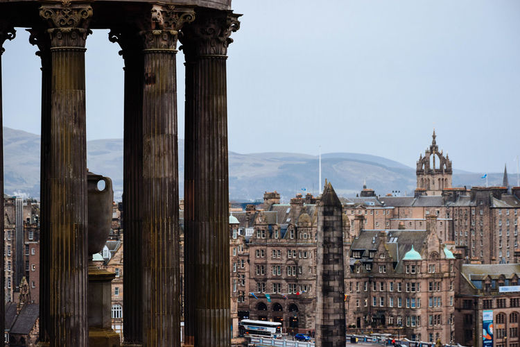 Edinburgh Architecture Built Structure Building Exterior Travel Destinations History The Past Tourism City Travel Building Sky Architectural Column Day Nature Place Of Worship Religion Ancient Spirituality No People Outdoors Ancient Civilization Scottish Edinburgh Calton Hill St Giles