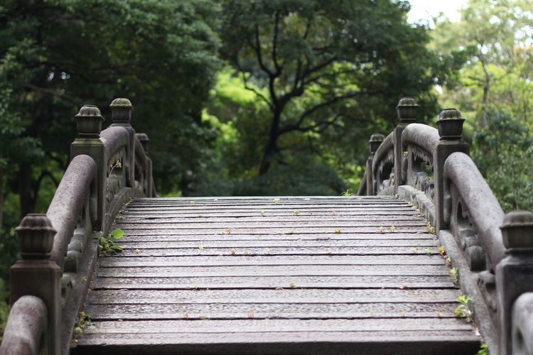 Wooden steps in temple