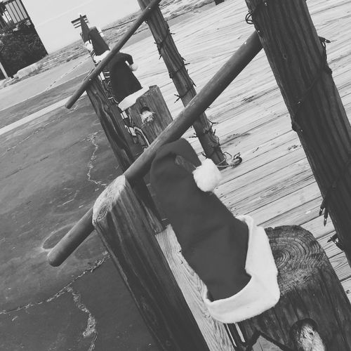 Christmas Around The World South Texas Winter Christmas Hats Pylons Rockport Texas Taking Photos Hello World Texas Blackandwhite 2015