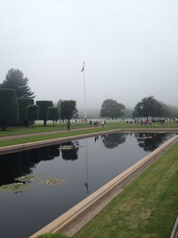 American American Flag Beauty In Nature Cloudy D-Day Day Historical Value History History Through The Lens  Memorial No People Normandy Outdoors Reflection Sacrifice Second World War Water Waterfront