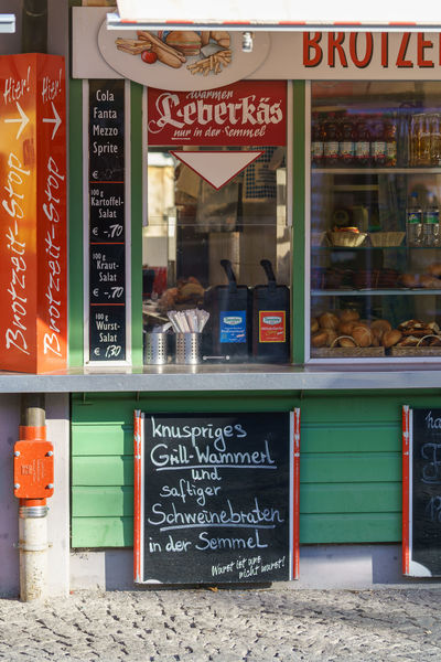 Food stand in Bavaria, Germany. Leberkäs is a traditional fast food there. Brotzeit Fast Food Food Stand Munich, Germany Food Food Booth Leberkäse Retail