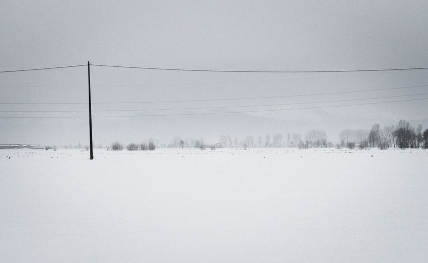 Winter panorama in the plains (Piedmont, Italy) Snow Winter Cold Temperature Tranquility Tranquil Scene Beauty In Nature Environment Scenics - Nature Nature White Color Landscape Sky No People Tree Outdoors Snowcapped Mountain Field Land Snowing Power Supply Electricity  Piemonte Wintertime EyeEm Nature Lover EyeEm Best Shots