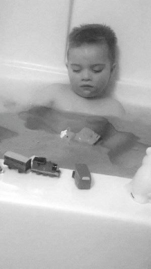 Relaxing My World In B&W MySON♥ Lol♥ Sleeping Beauty Bathtime Bedtime Playtime Sleepybaby Precious Moments Of Life Tuckered Out Myangelface Beautiful ♥
