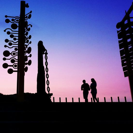 Sky colours are infinite 🌠 Silhouette People Outdoors Sky Sunset Silhouettes Bestshotz Skylovers Sky Collection Spain_greatshots