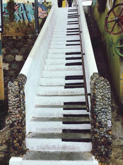 Day No People Valparaiso, Chile Escaleras Piano First Eyeem Photo