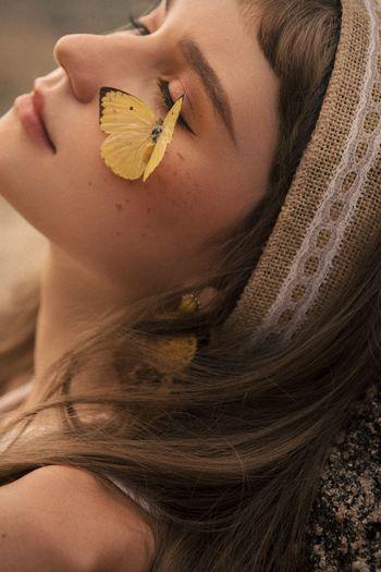 Poetic Fashion Nature Marcfashionvn Portrait Relaxation Close-up Beauty