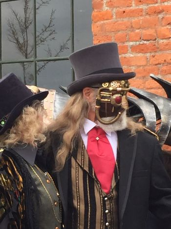 Art Bizarre Brass Screw Confederacy Costumes Couple Cultures Fancy Dress Festival Hats Lifestyle Mask Old And New Science And Technology Science Fiction Steam Punk Steampunk